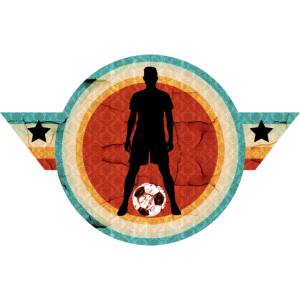 Vintage Retro-Fußballer