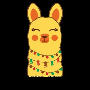 Llama Retro Stil Alpaka
