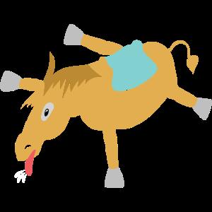 Pferd Platt Burnout erledigt