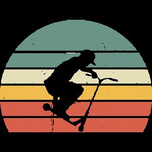 Stunt Scooter Tretroller Rollerfahrer Roller Retro