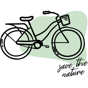 Fahrrad, um die Natur zu retten
