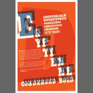 Egyptienne Condensed Bold 2 Typography Poster