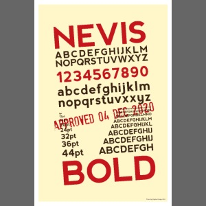 Nevis Bold Typography Poster