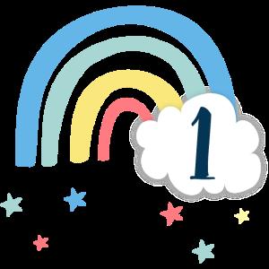 1. Geburtstag / Regenbogen