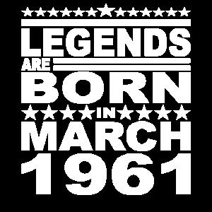 Legendär seit März 1961 Jahr 1961 Geburtstag