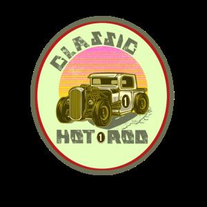 Klassisches Automobil Liebhaber Hot Rod Schild
