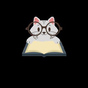 Die tut nix die will nur lesen Katze Bücherwurm