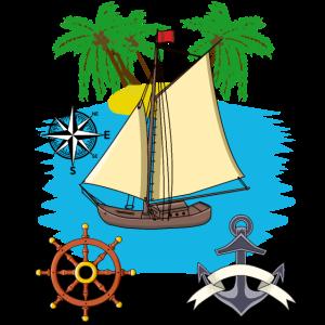 Segelboot Seefahrt Karibik Südsee Seemann segeln