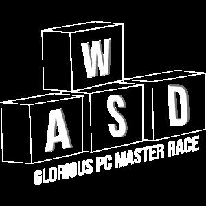 Gamer WASD Gaming PC Master Race Zocker Geschenk