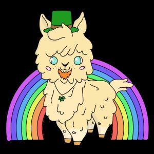 Lama als Kobald im Regenbogen