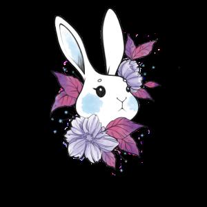 Aesthetik Kaninchen Art Blumenkranz Osterhase