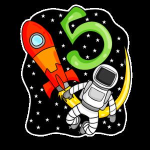 5. Geburtstag Astronaut 5 Jahre Jungen Geschenk