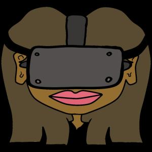 Ebony VR GIRL - VIRTUAL REALITY