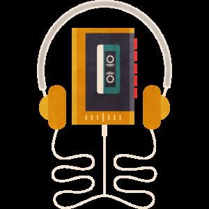Walkman mit kassette und kopfhöher geschenkidee