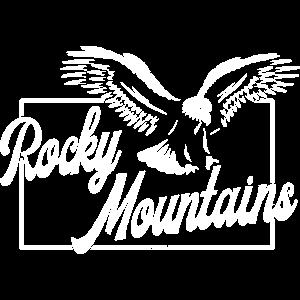 Rocky Mountains Eagle landing