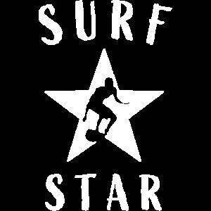 Surfer Stern Wellenreiten