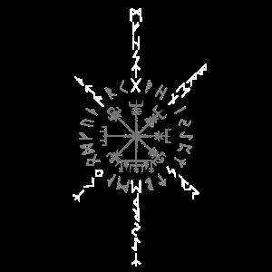 Wikinger Kompass Runen Odin Futhark Vegvisir