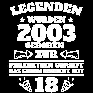 18.Geburtstag !8 Jahre 2003