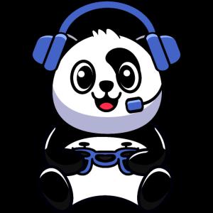 Panda mit Gamepad ist Esport Fan
