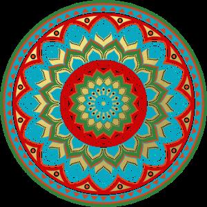 Geometric Gold Mandala Pattern