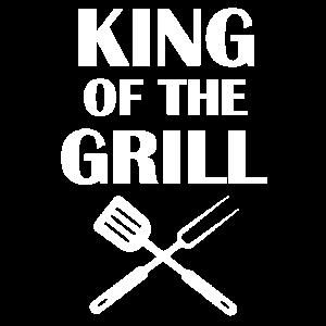 König vom Grill King Geschenk Geburtstag Vatertag