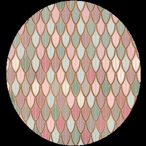 Geometric Calming Mermaid Pattern