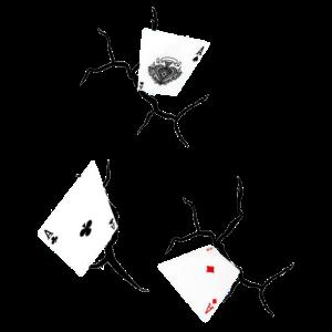 Ass Spielkarten 3 D Design