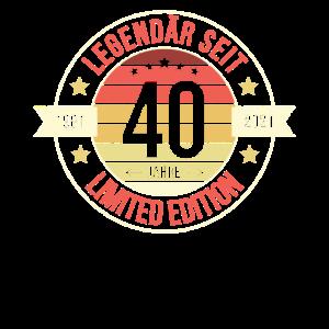 40. Geburtstag 40 Jahre 1981 Jahrgang