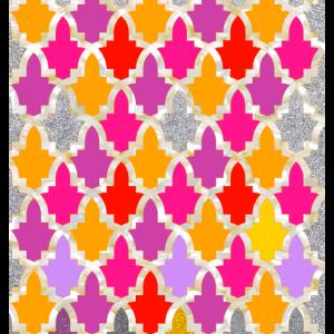 Colourful Oriental Geometric Patterns