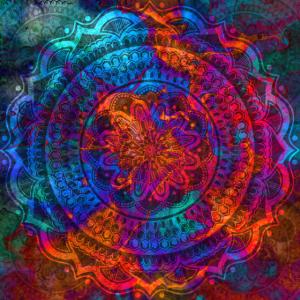 Oriental Geometric Mandala Pattern