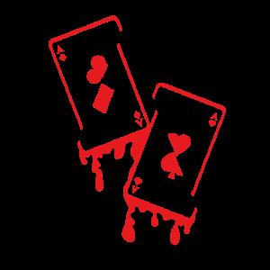 Melting Cards Poker Lover Poker Player