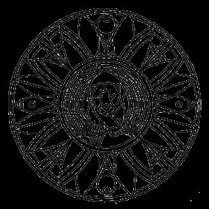Mandala Panther Schwarz Linie