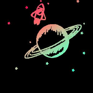 Universum Planeten Rakete Sterne