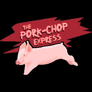 Pork Chop Express Grill-T-Shirt