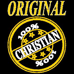 ich heiße Christian Original 100% Christian Name