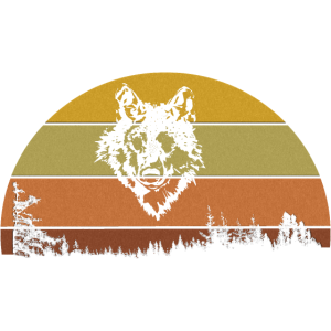 Walmotiv Wolf im Halbkreis