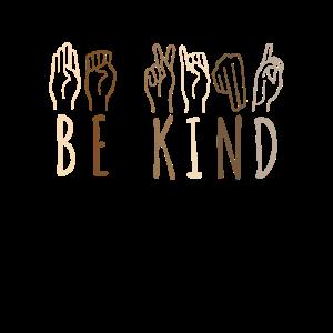 Be Kind Language Hand Talking Teachers