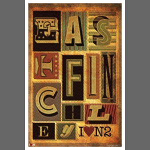 East Finchley Typography Poster
