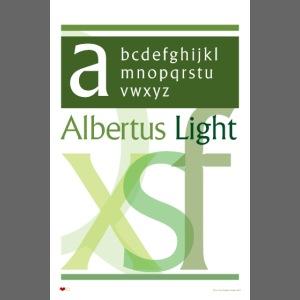 Albertus Light Type Poster