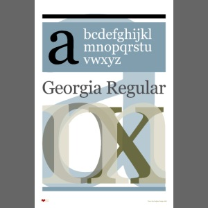 Georgia Regular Type Poster