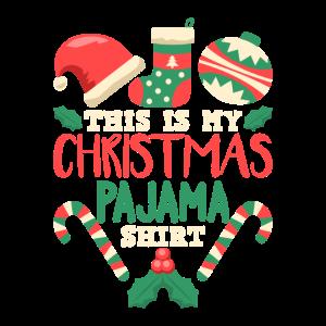 Das ist mein Weihnachts-Pyjama-T-Shirt