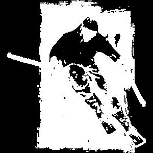 ski skifahrer grunge abfahrt