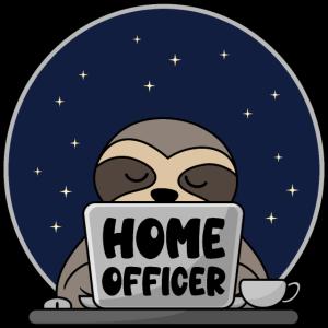 Homeofficer Homeoffice Faultier Computer Büro