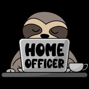 Homeofficer Homeoffice Büro Faultier Computer