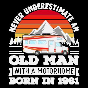 Wohnmobil - geboren 1961 60. Geburtstag Geschenk Alter Mann