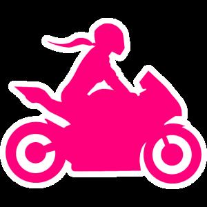 Motorradfahrerin Bikergirl Bikerin Frau Motorrad