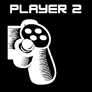 Player 2 Gamer Paar Geschenk Shirt Gaming & Zocken