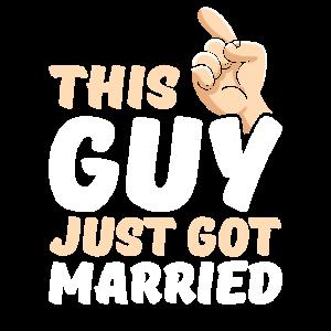 Dieser Kerl hat gerade verheiratet lustige neue Bräutigam