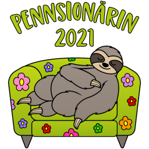Pensionärin Pennsionärin 2021 Pensionär Faultier