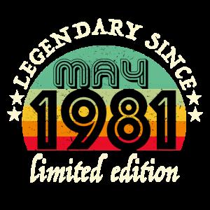 Jahrgang 1981 May 40 Geburtstag